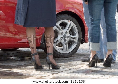 Buying a car - stock photo