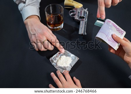 Buying drugs from dealers - stock photo