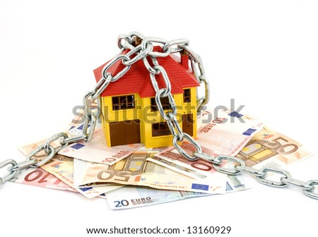 buying house concept studio isolated - stock photo