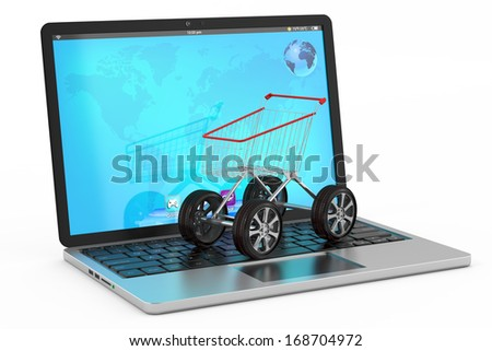 buying online, online shop concept - stock photo