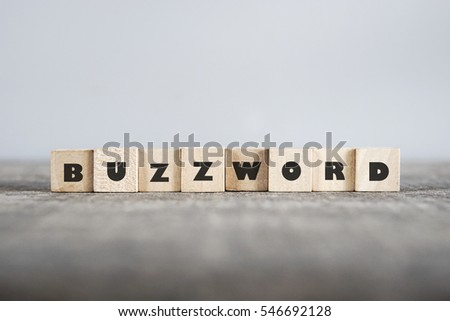 BUZZWORD word made with building blocks