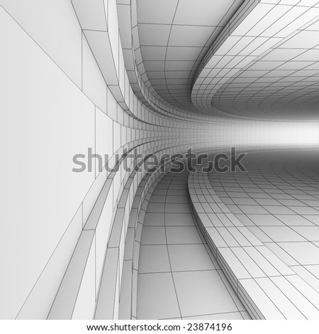 BW abstract engineering construction - stock photo