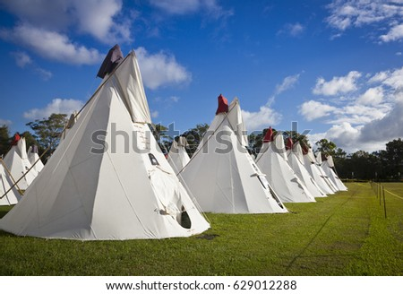 BYRON BAY AUSTRALIA - APRIL 12 Rainbow Tipi Village at the 2017 Byron Bay & Byron Bay Australia April 12 Rainbow Stock Photo 629012288 ...