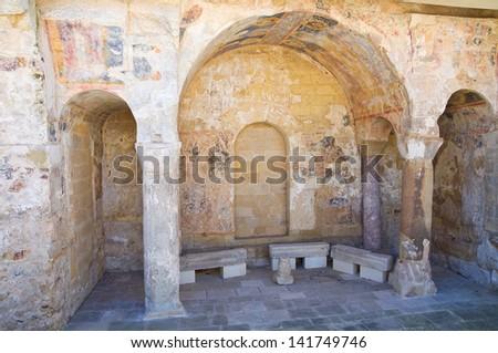 Byzantine Basilica. Castro. Puglia. Italy. - stock photo