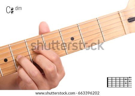 Cdim Advanced Guitar Keys Series Closeup Stock Photo Royalty Free