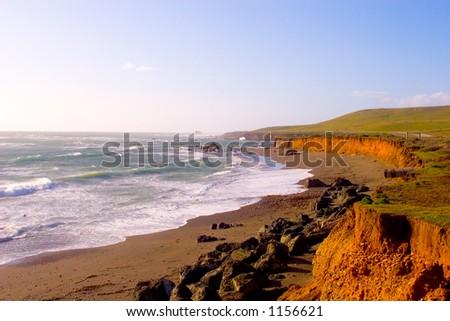 CA-1 Highway Scenic Coast - stock photo