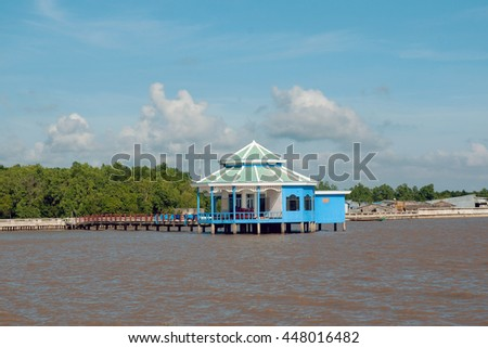 CA MAU, VIET NAM, July 2, 2016 resorts, Ca Mau sea, Vietnam