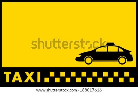 cab yellow backdrop with car and taxi text