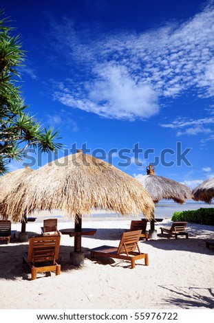 Cabana by the beach - stock photo