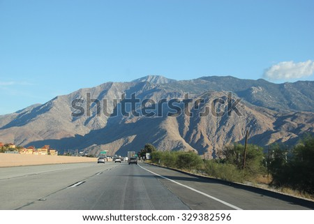 Southern california freeway stock images royalty free images cabazon california usa october 7 2015 interstate 10 one of sciox Choice Image