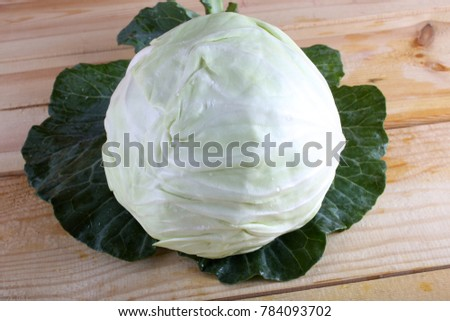 Cabbage on leaves