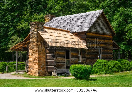 Smoky mountains cabin stock images royalty free images for Privately owned cabins in the smoky mountains