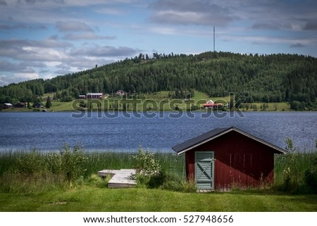 cabin near lake