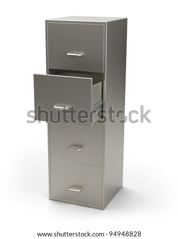 Cabinet for documents isolated 3d model