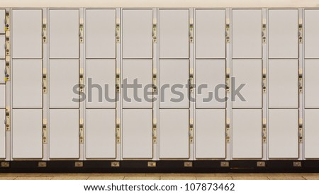 Cabinet in a train station - stock photo