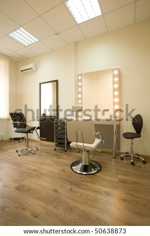 Cabinet makeup artist and hairdresser - stock photo