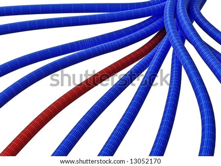 Cable connection fiber 7 - stock photo