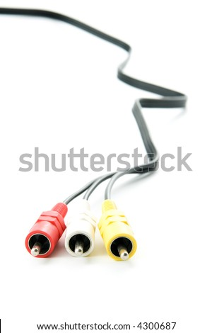 Cable on white - stock photo