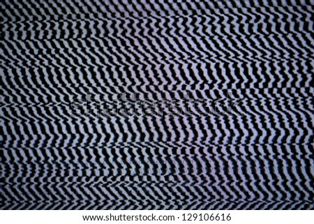 Cable out. Abstract tv pattern texture background. Macro shot. - stock photo