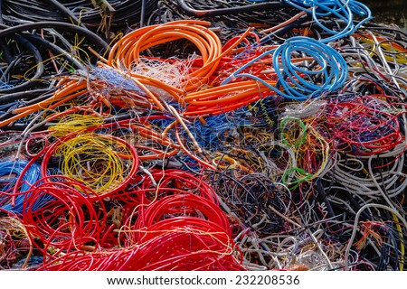 Cable Recycling - stock photo