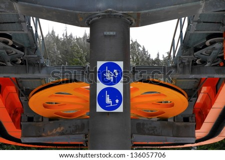 Cable transport upper station - stock photo