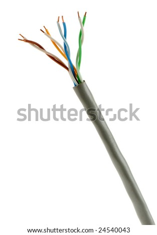 Cable twisted pair - stock photo