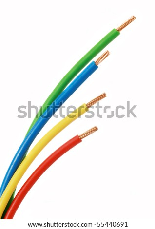 cable used in electrical wiring systems - stock photo