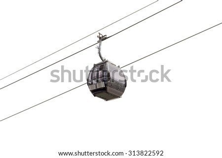 cableway in the mountains of Kazakhstan. Chimbulak - stock photo