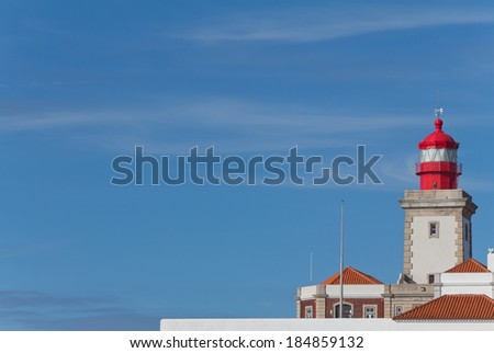 Cabo da Roca Lighthouse, the westernmost point of Europe in Portugal - stock photo