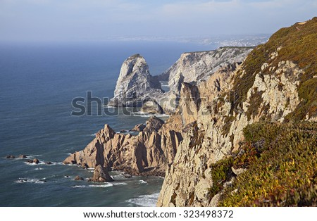 Cabo da roca, the western point of Europe - stock photo