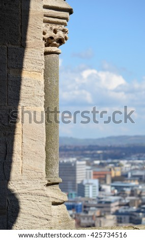Cabot Tower Architecture with view over Bristol - stock photo