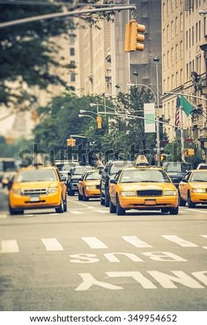 Cabs in NY - stock photo