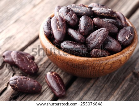Cacao beans - stock photo