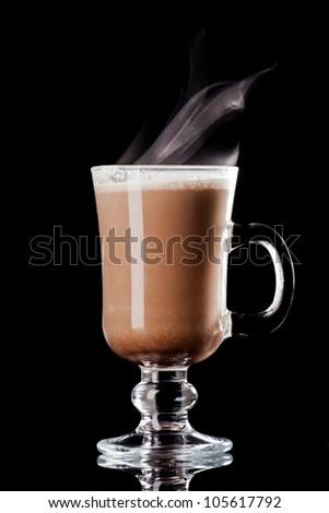 cacao beverage - stock photo