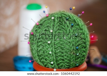 Polystyrene cactus - needle bed 88