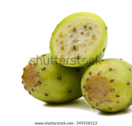 cactus pears on white background