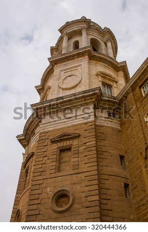 Cadiz tower in Andalucia south of Spain - stock photo