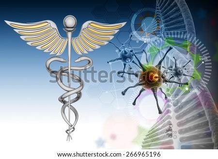 caduceus medical symbol - stock photo