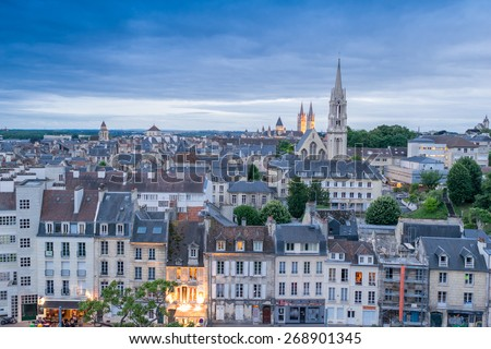 caen aerial cityscape normandy france stock photo edit now 268901345 shutterstock. Black Bedroom Furniture Sets. Home Design Ideas