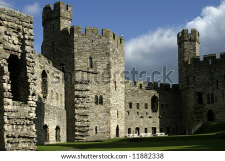 caernarfon castle. - stock photo