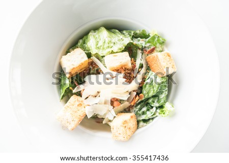 Caesar salad Healthy food style - Selective focus point - stock photo