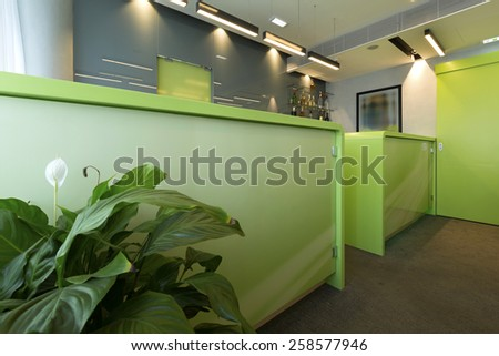 Cafe bar interior - stock photo