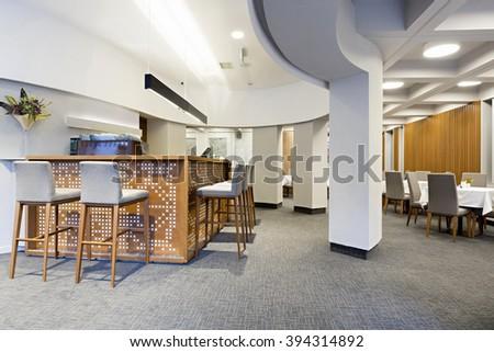 Cafe bar interior - stock photo