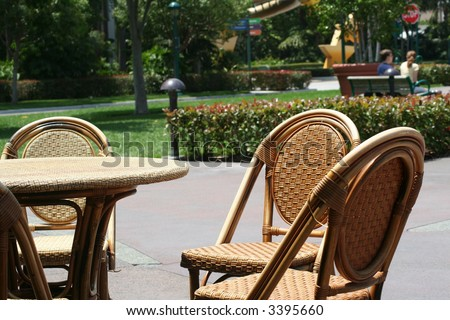 cafe chair - stock photo
