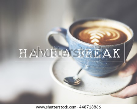 Cafe Coffee Relax Aromatic Caffeine concept  - stock photo