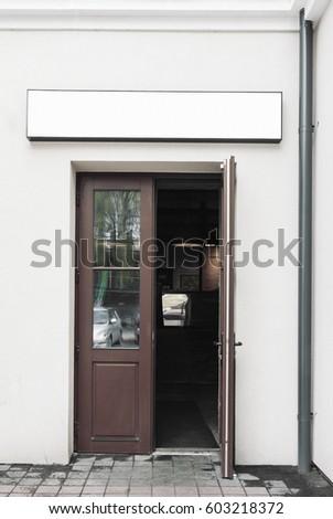 Bathroom Sign Mockup door signage stock images, royalty-free images & vectors