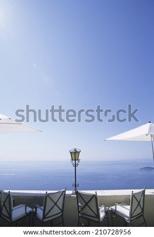 Cafe Overlooking The Sea