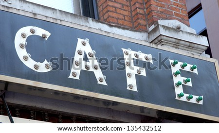 Cafe Signs for Retail Stores - stock photo