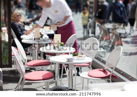 cafe terrace - stock photo