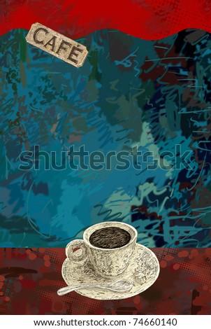 Cafe theme background - stock photo